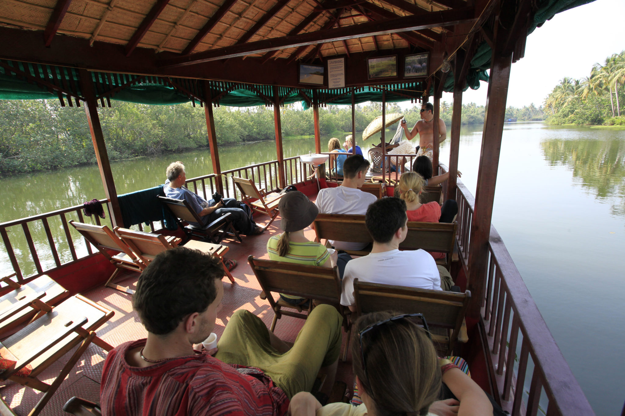 Kerala Tour Package - 2020-2021 - Group enjoying Backwater journey